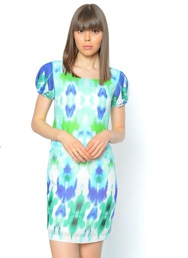 Yarım Kol Mini Elbise Bovona